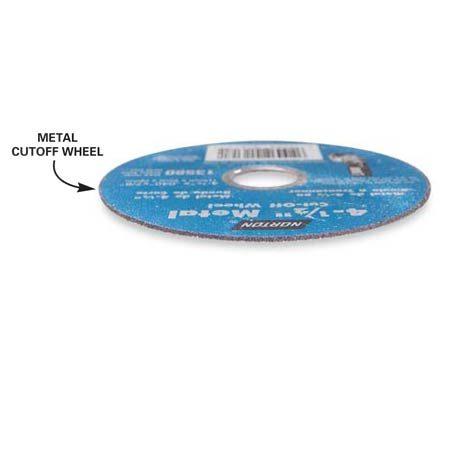 <b>Metal cutoff wheel</b></br> Use an inexpensive metal-cutting blade for rough cutting metal.