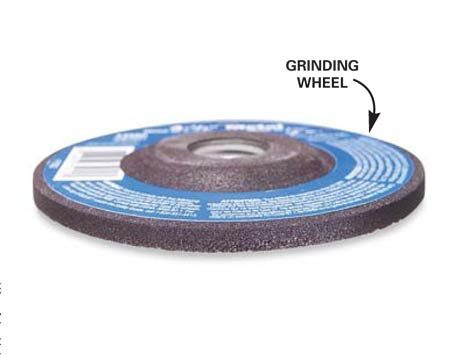 <b>Grinding wheel</b></br> Use a grinding wheel for general sharpening tasks.