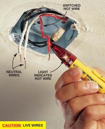 How To Hang A Ceiling Light Fixture The Family Handyman border=