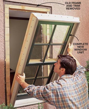 <b>Option 2</b></br> With new window units, you replace all the old parts with new, assuring weathertight, long-term performance. But installation is more difficult.