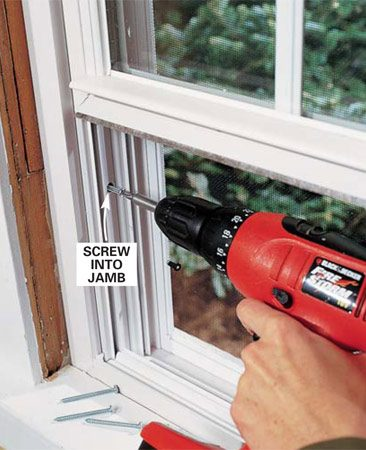How to install a window the family handyman for Installing vinyl replacement windows