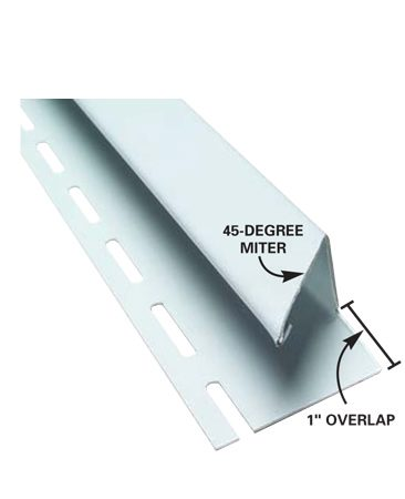 <b>Side J-channel detail</b></br> Cut 45-degree miters in the side J-channel