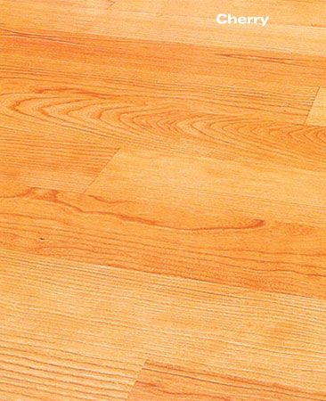 <b>Laminated cherry wood floor</b></br> Laminated wood flooring is stable, excellent over concrete and easier to install than solid wood flooring.