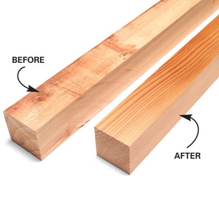 <b>Before and after</b></br> A planer can turn rough cedar into crisp, smooth spindles.