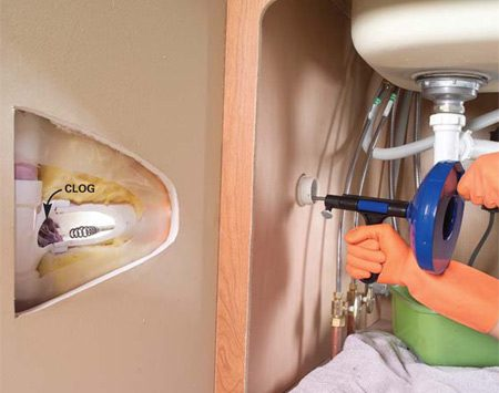 How To Clear Clogged Sink Drains The Family Handyman