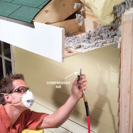 <b>Clean the vents</b></br> A short blast of compressed air will blow out debris.