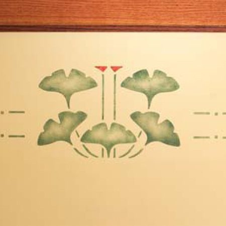 <b>Finished stencil</b></br> The finished stencil adds a dramatic flourish to any room.