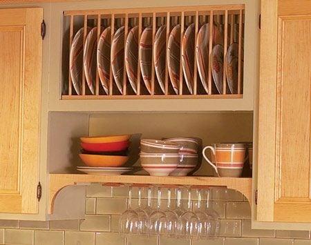 Kitchen Cabinet Plate Rack Insert