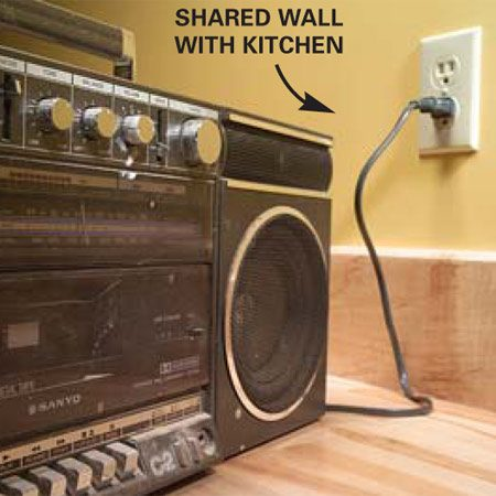 <b>Detail</b></br> Plug a radio in to the outlet, then listen for it cutting off when you test the breakers.