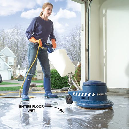 How to apply epoxy floor paint to your garage the family for Garage floor cleaner degreaser