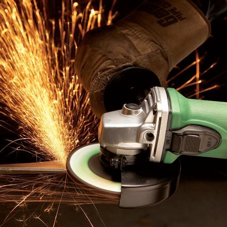 <b>Cut tile, metal, masonry and more</b><br/>An angle grinder excels at grinding down metal or masonry, but it can do so much more. Fitted with a diamond blade it&#39;ll cut just about any stone or ceramic tile. And the relatively small blade is perfect for the intricate cuts needed for outlet openings or the curved holes around a shower faucet. Grinders cut metal fast, strip paint and  remove rust too. For occasional use, a $40 to $50 angle grinder will work fine for all these jobs. Available at home centers or through our affiliation with <a href='http://www.amazon.com/gp/product/B001JQN60K?ie=UTF8&tag=familhandy-20&linkCode=as2&camp=1789&creative=9325&creativeASIN=B001JQN60K'>amazon.com</a>