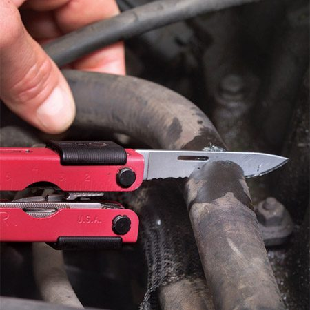 <b>Cut out the bad section of hose</b></br> The leak may be at a fitting on the water pump or even at the heater core. If this is the case, you won't need to use the coupling; just cut the bad end off the hose, stretch the hose and reclamp it to the fitting. If the leak is along the hose, cut it at the leak and remove the bad section.