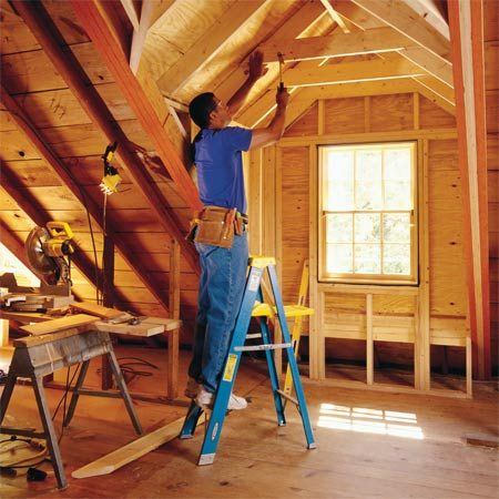 <b>Gable dormer framing</b><br/>Adding a gabled dormer creates additional space and lets the sunlight shine in.
