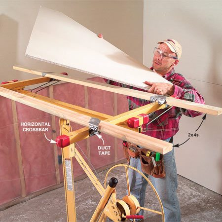 <b>Photo 7: Modify the lift</b></br> As with most things in life, all it takes is 2x4s and duct tape.