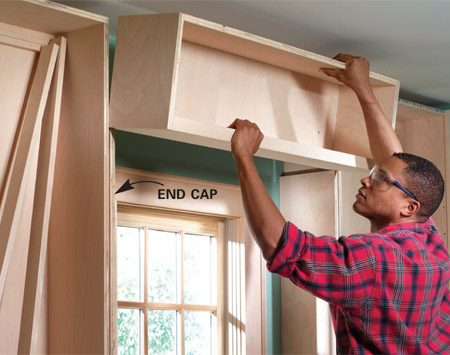 <b>Photo 11: Install the window shelf</b></br> Cut the end caps and nail them into place. Assemble the window shelf (Figure A). Then set it on the end caps and nail it into place. For easier installation, make the shelf 1/8 in. narrower than the opening.
