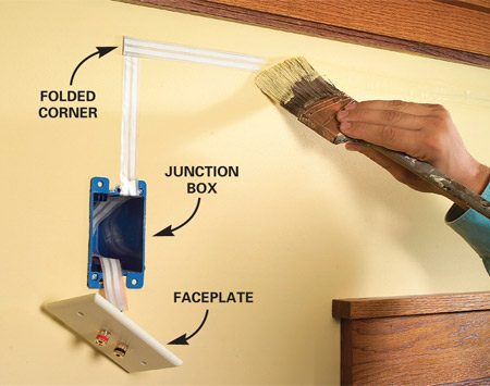 how to hide wiring speaker and low voltage wire the family handyman conceal wire