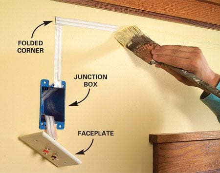 How to hide wiring speaker and low voltage wire the for How to hide electrical cords on wall