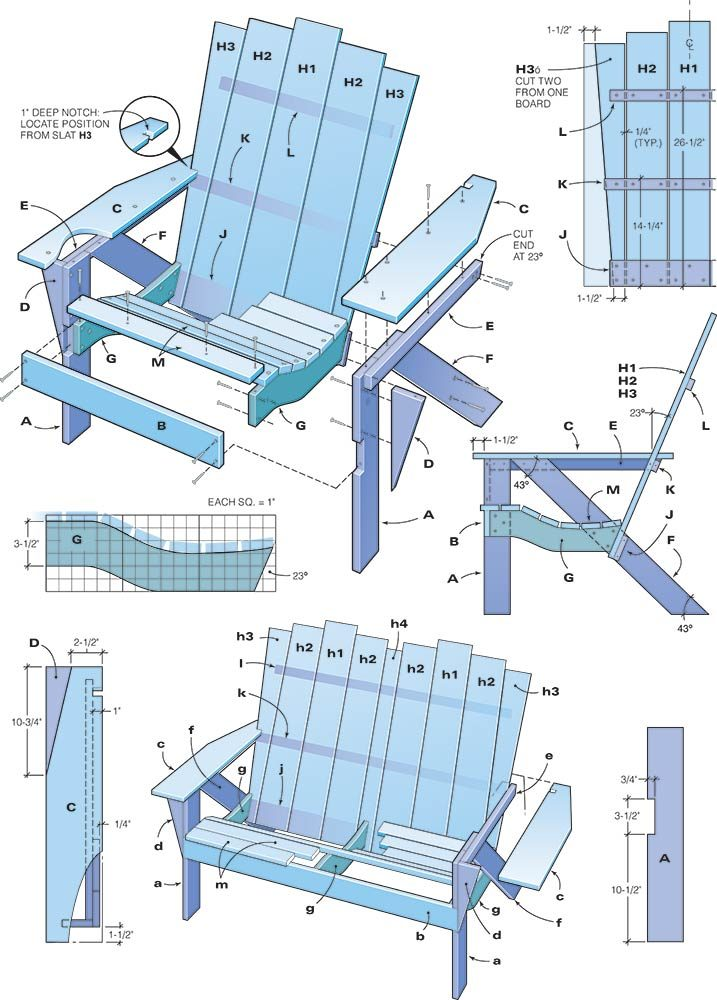 how to make an adirondack chair and love seat | the family handyman, Hause und Garten