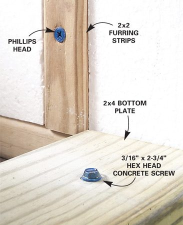 <b>Photo 6: Screw heads and usage</b></br> Drive Phillips head screws where a flush surface is required and where a Phillips head would look better. Otherwise use hex head screws.