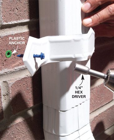 <b>Photo 11: Plastic anchor solution</b></br> If the concrete screw doesn't hold, insert a plastic anchor to provide grip.