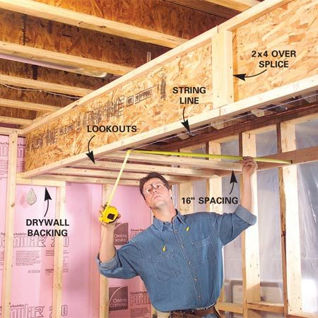 Photo ... & How to Finish a Basement: Framing and Insulating | The Family Handyman