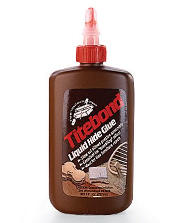 <b>Liquid hide glue</b></br> Use it for furniture repair; very long open time for assembl—up to 30 minutes. Requires a long curing time.