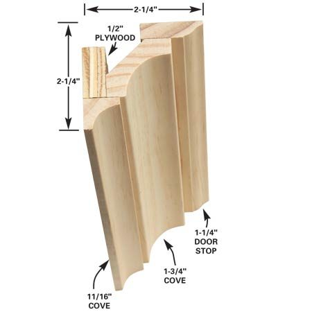 Multi-piece crown molding option