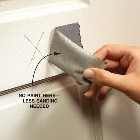 <b>See if paint sticks to duct tape</b></br> Pull duct tape off the paint to see if the paint sticks.