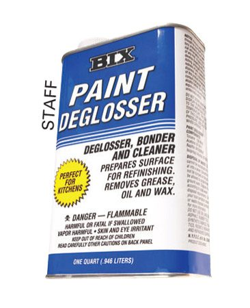Wipe down woodwork with a paint deglosser or<br/> liquid sandpaper.