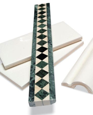 <b>Subway-style tile and trim</b></br>