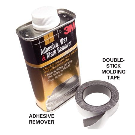<b>Materials </b></br> Adhesive remover and double-stick molding tape are the only supplies you need for this repair.