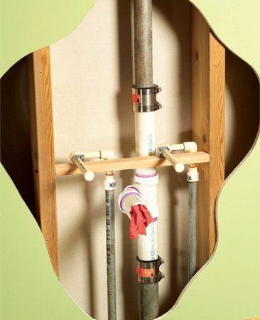 Galvanized steel to plastic pipe conversion