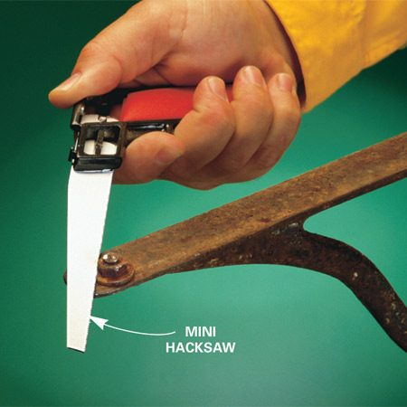 <b>Cut off fastener head when all else fails</b></br> When there's no other solution—when heat, penetrating oil and wrenches have all failed—cut off bolt heads or nuts with a hacksaw, reciprocating saw or a cold chisel. Some smaller fasteners, especially rivets and flathead bolts, may be easier to drill out than to cut.