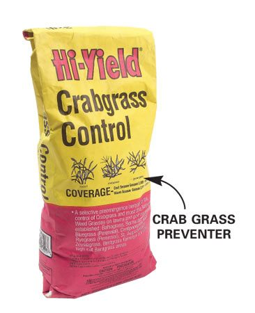 <b>Photo 2: Crabgrass preventer</b><br/>Preventers usually come as granules that you put on the lawn with a spreader.