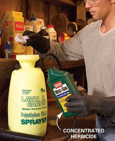 Mixing herbicide in a sprayer
