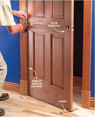 How To Fix A Sagging Door >> Fix Sagging or Sticking Doors | The Family Handyman