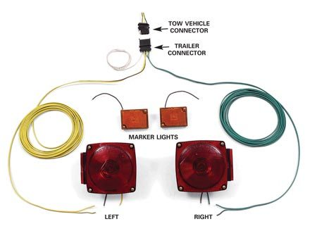 <b>New trailer light system</b><br/>Don't hesitate to replace the entire wiring system if it's badly corroded.