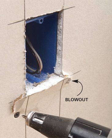 Holes that aren't sized correctly can cause the drywall to crack or break