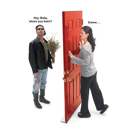 <b>Inexpensive home security</b></br> A peephole allows you to see who's knocking before unlocking.