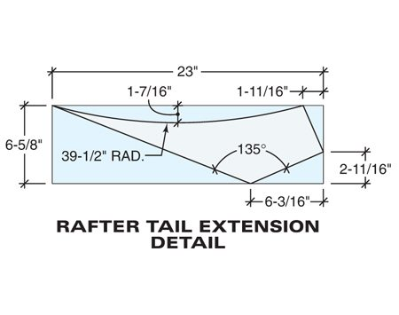 Rafter tail extension detail