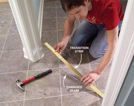 Repair And Reglue Sheet Vinyl Floors The Family Handyman