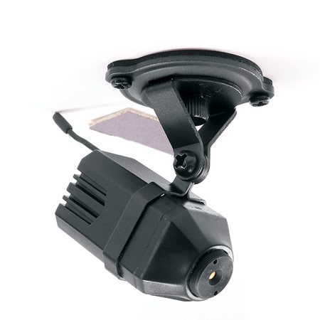 <b>Photo 1: Wireless mini camera</b></br> About the size of your thumb, the camera sends live color images to the receiver.