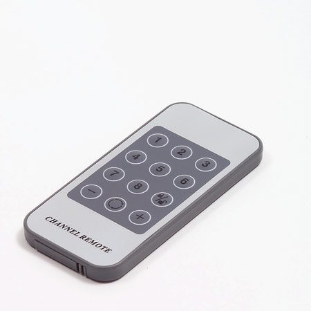 <b>Photo 3: Remote control</b></br> Controls which camera image shows on the monitor.