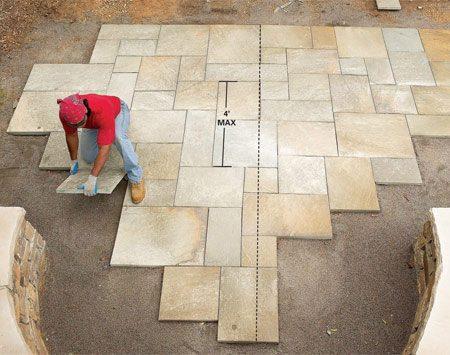 Build A Flagstone And Stone Block Patio The Family Handyman