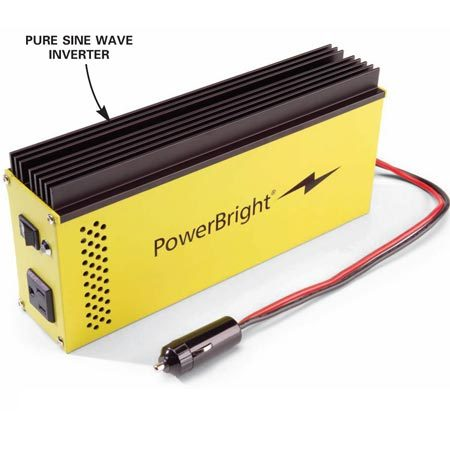 "<b>High-quality electricity inverter</b></br> Expensive ""pure sine wave"" inverters supply clean, utility-like electricity to power any small device."