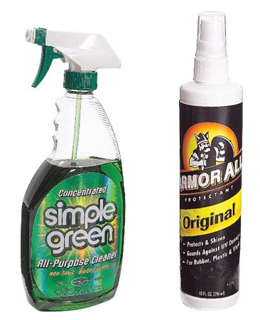 <b>Clean and rejuvenate the dash</b><br/>Spray the rag often with all-purpose cleaner.