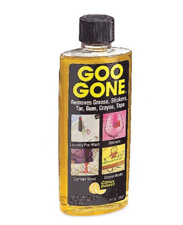 <b>Goo Gone</b><br/>Use Goo Gone to eliminate gummy residue left behind.