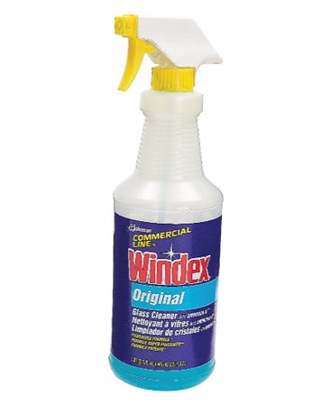 <b>Glass Cleaner</b><br/>Use glass cleaner and a clean rag.