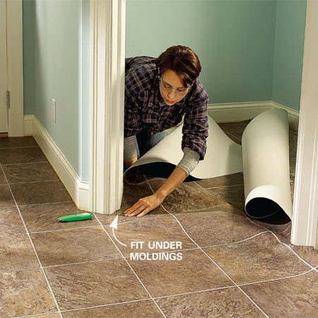 Install Vinyl Flooring In A Laundry Room The Family Handyman