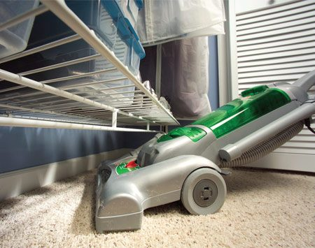 <b>Keep closet floors clean</b></br> Uncluttered floors are easier to vacuum.